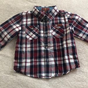 7 for all man kind button down shirt